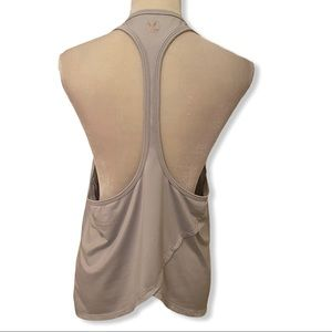 CARVE DESIGN Putty Gray Tulip Back Tank Top